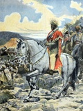 Emperor Negus Menelik II of Ethiopia at Battle of Adwa 1896 Photographic Print by Chris Hellier
