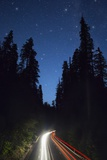 Highway 101 and the Avenue of the Giants at Night. Photographic Print by Jon Hicks