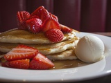 A Plate of Buttermilk Pancakes. Photographic Print by Jon Hicks
