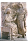 Handshake or Dexiosis Tomb Sculpture Photographic Print by Chris Hellier