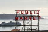 Pike Place Market Sign. Photographic Print by Jon Hicks
