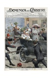 Assassination of Franz Ferdinand, Archduke of Austria, and His Wife Sophie, in Sarajevo Reproduction procédé giclée par Stefano Bianchetti