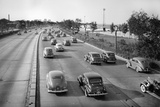 North Bound Lake Shore Drive in Chicago, Ca. 1946. Photographic Print by Kirn Vintage Stock
