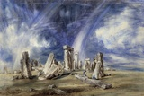Prehistoric Landmark of Stonehenge - by John Constable Photographic Print