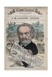 Caricature of French Social Reformer Andre Godin Reproduction procédé giclée par Stefano Bianchetti