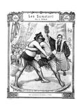 Sumo Wrestlers Tokyo 1903 Giclee Print by Chris Hellier