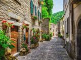 Italian Street in A Small Provincial Town of Tuscan Fotografie-Druck von  Alan64