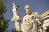 Plato Statue outside the Hellenic Academy Photographic Print by Jon Hicks
