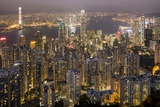 City Skyline from Victoria Peak, Hong Kong, China Fotografie-Druck von Paul Souders