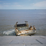 Car Wreck in Sea Photographic Print by Robert Brook