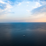 Ship in the Sea Fotografie-Druck von Oleh Slobodeniuk