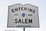 Entering Salem Road Sign, Massachusetts, Usa, 03.16.2014 Photographic Print by Joseph Sohm
