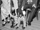 Pet Monkeys All Dressed Up, Ca. 1961. Photographic Print by Kirn Vintage Stock