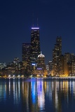 The Chicago Skyline over Lake Michigan at Dusk Photographic Print by Jon Hicks