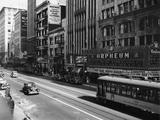Los Angeles - stadsdelen Downtown Fotoprint