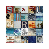 Surf City Giclee Print by Charlie Carter