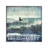 Live Love Surf Giclee Print by Charlie Carter