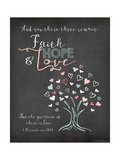 Faith Hope and Love Premium Giclée-tryk af Jo Moulton