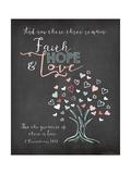 Faith Hope and Love Kunstdrucke von Jo Moulton