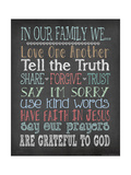 Faith Family Rules Posters par Jo Moulton
