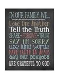 Faith Family Rules Pôsters por Jo Moulton