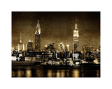 NYC in Sepia Giclée-Druck von Kate Carrigan