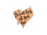 Small Things Great Love Pink Giclée-Premiumdruck von Tara Moss
