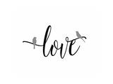 Gray Love Birds Posters por Tara Moss