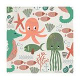 Under the Sea Pattern Poster von Katie Doucette