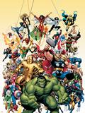 Capa de revista em quadrinhos nº.1, Clássicos Vingadores: Hulk Placa de plástico por Arthur Adams