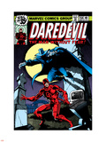 Daredevil No.158 Cover: Daredevil and Death-Stalker Kunststof borden van Frank Miller