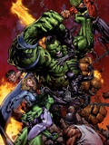 World War Hulk No.2 Cover: Hulk Cartel de plástico por David Finch