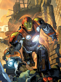 Ultimate Comics Armor Wars No.1 Cover: Iron Man Plastic Sign by Brandon Peterson