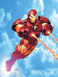 Iron Man: Iron Protocols No.1 Cover: Iron Man Fighting Plastikskilt af Ariel Olivetti