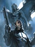 Moon Knight No.26 Cover: Punisher and Moon Knight Signe en plastique rigide par Gabriele DellOtto