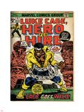 Marvel Comics Retro: Luke Cage, Hero for Hire Comic Book Cover No.15, in Chains (aged) Targa di plastica