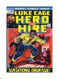 Marvel Comics Retro: Luke Cage, Hero for Hire Comic Book Cover No.1, Origin Targa di plastica