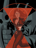 Widowmaker No.4 Cover: Black Widow Running Plastic Sign by Phil Noto
