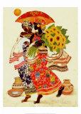 Zonnebloemen Print van Keith Mallett