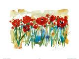 Field of Poppies Poster by Alfred Gockel