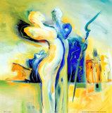 Idylle dans un lieu exotique Posters par Alfred Gockel