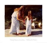 Feeding the Ducks Prints by Nancy Seamons Crookston