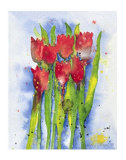 Red Tulips Poster by Witka Kova