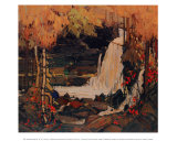 Woodland Waterfall Posters af Tom Thomson