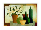 Flowers and Bottles I Konst av Hans Paus