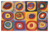 Kvadratisk färgstudie, ca 1913|Farbstudie Quadrate, ca1913 Posters av Wassily Kandinsky