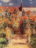 Garden at Vetheuil Julisteet tekijänä Claude Monet