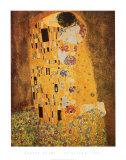 Kysset, ca.1907 Plakat af Gustav Klimt