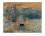 印象、日の出 1872年 ポスター : クロード・モネ