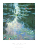 Waterlilies II Poster van Claude Monet